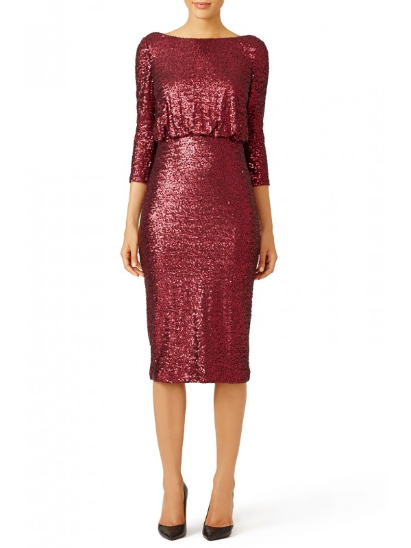 Merlot Sequin Sheath
