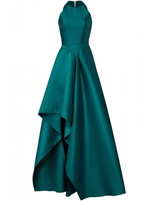 Teal Sculptural Gown