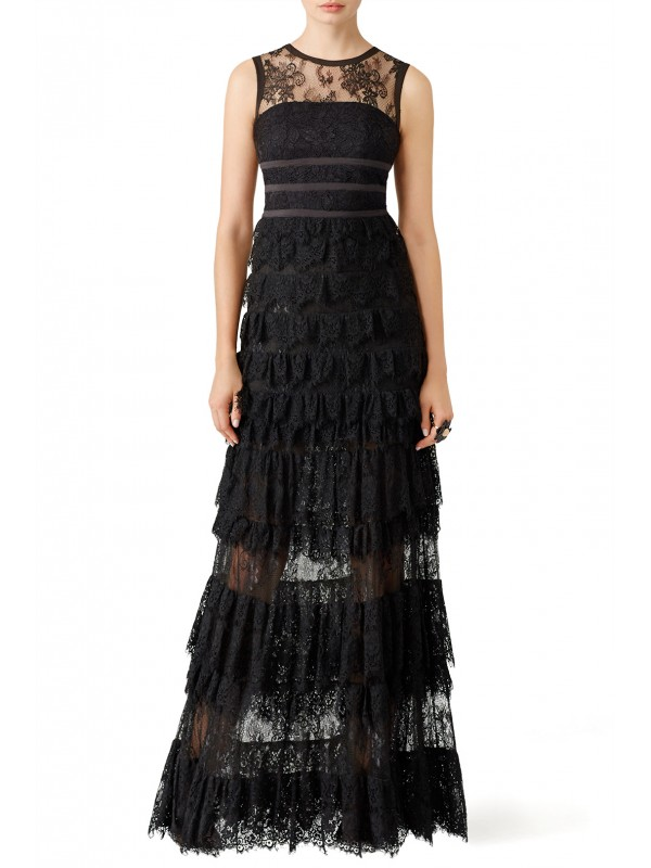 Black Lace Shannon Gown