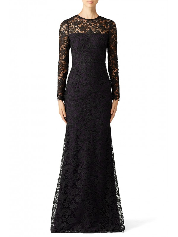 Black Lace Tower Gown