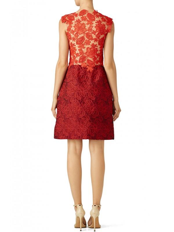 Crimson Floral Dress