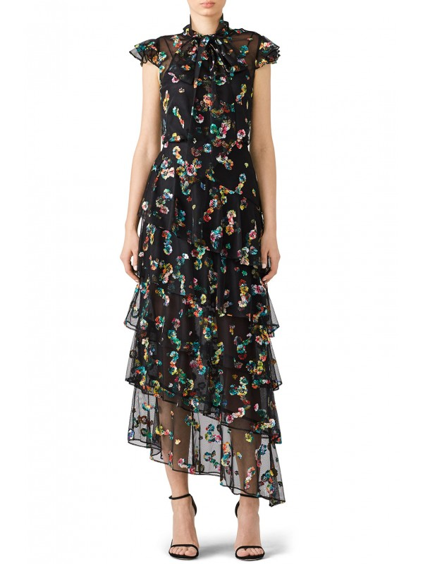 Multi Floral Gown