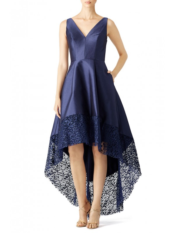 Navy Spiderweb Gown