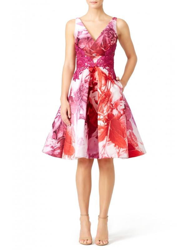 Pink Petal Print Dress