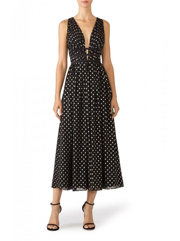 Polka Dot Plunge Dress