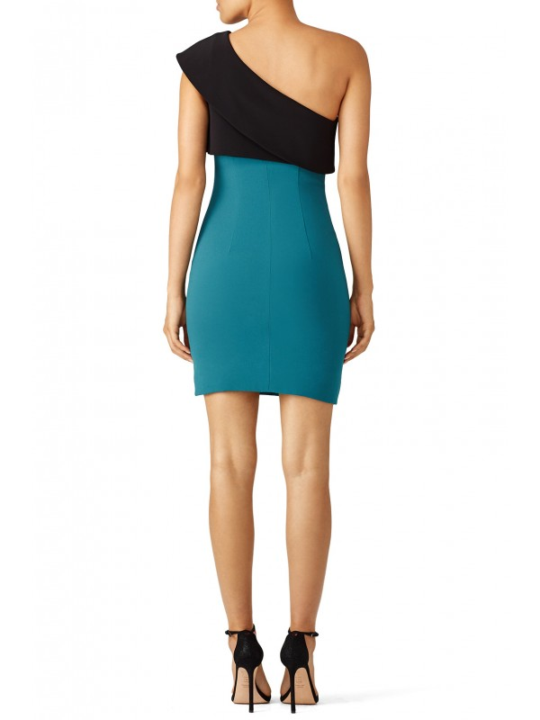 Teal Colorblock Sheath
