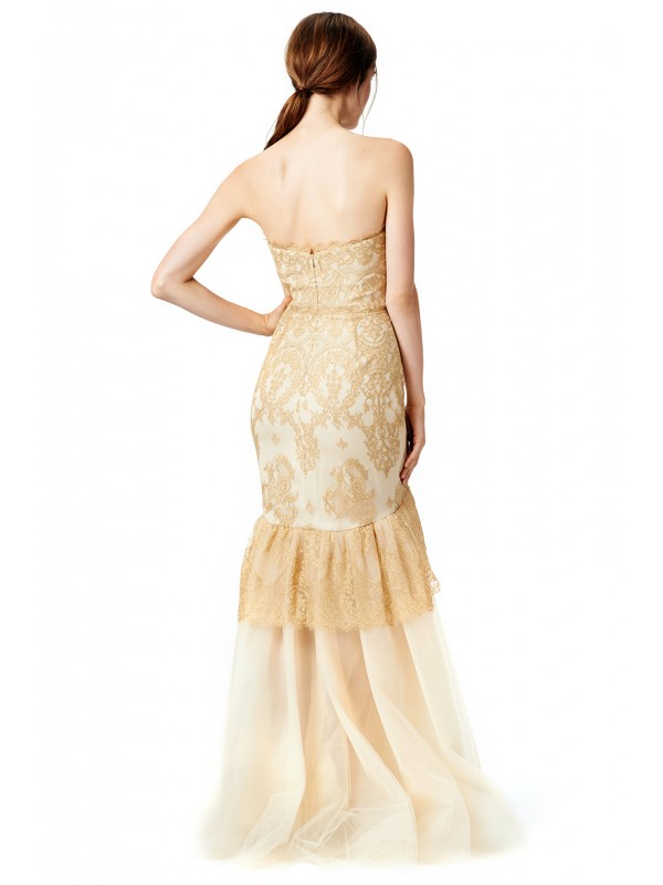 Dipped in Gold Mermaid Gown