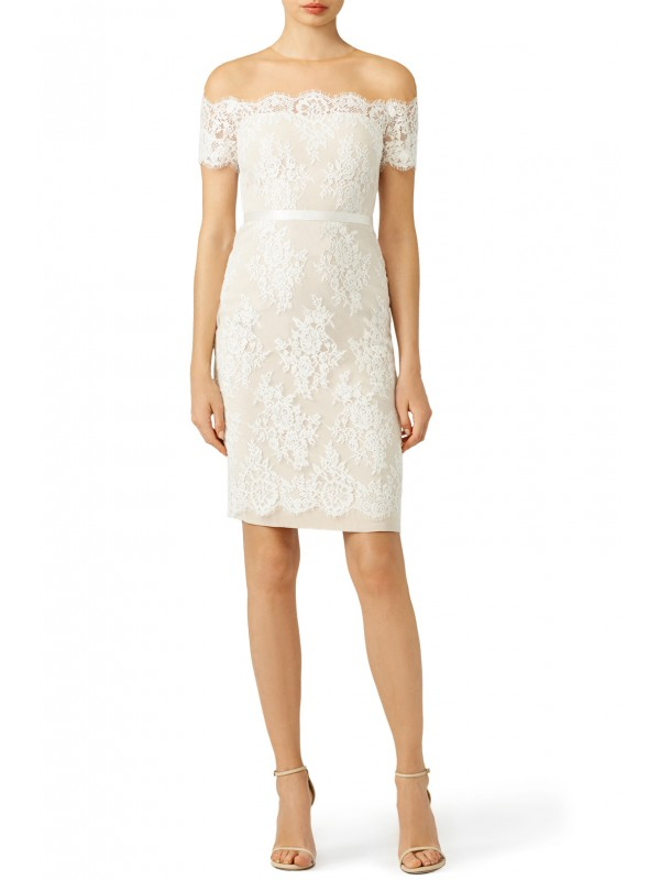 Ivory Lace Cocktail Sheath