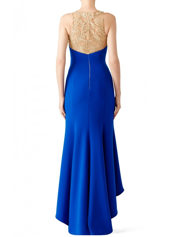 Royal Blue High Low Gown