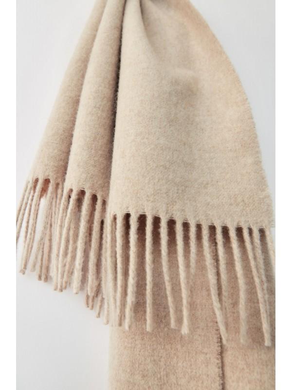 Fringed scarf oatmeal melange