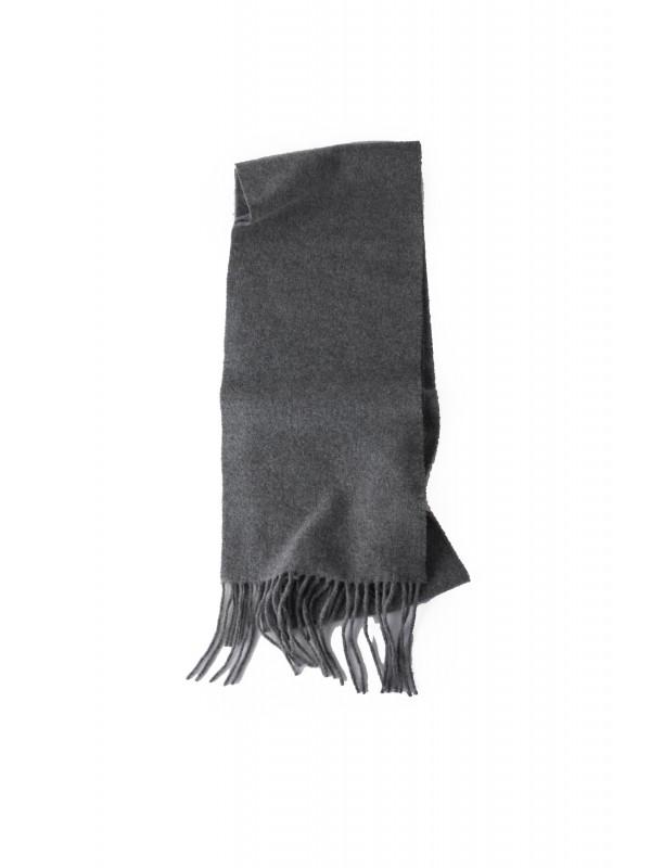 Skinny fringed scarf grey melange