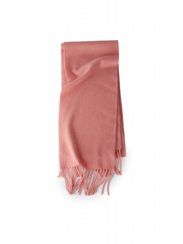 Skinny fringed scarf pale pink