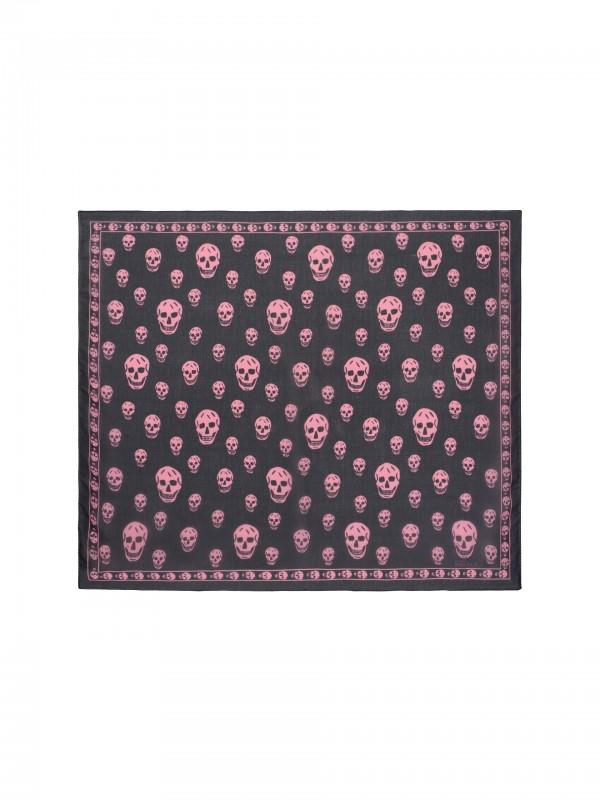 Classic Silk Chiffon SKULL Scarf pink