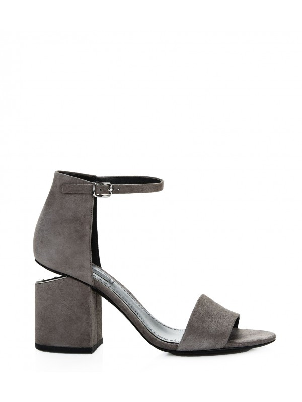 ABBY SUEDE SANDAL WITH RHODIUM EXCLUSIVE