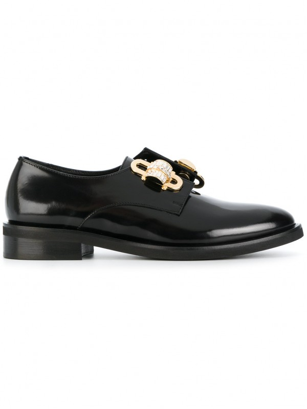 COLIAC EMBELLISHED VARNISHED LOAFERS