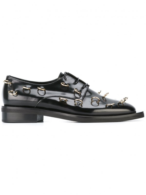 COLIAC PIERCING EMBELLISHED DERBY SHOES