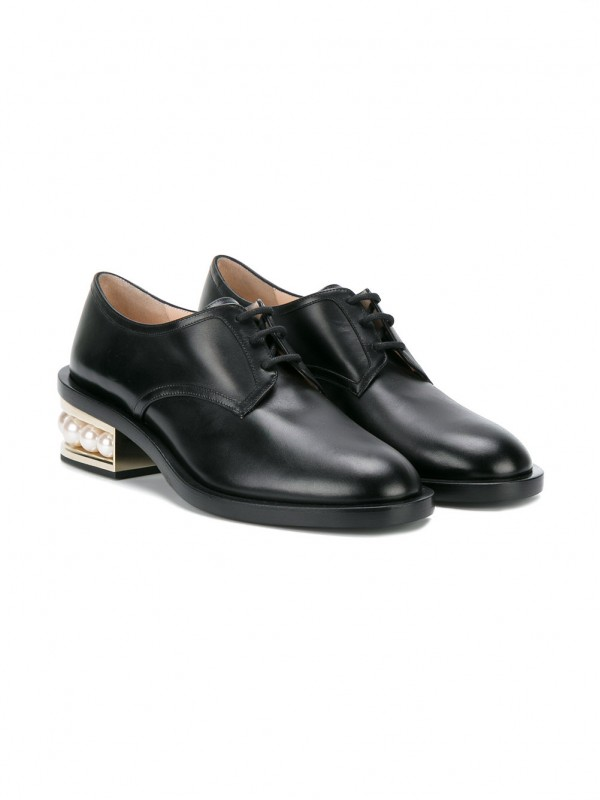 Gianvito Kirkwood Black Casati Pearl 35 derby shoes