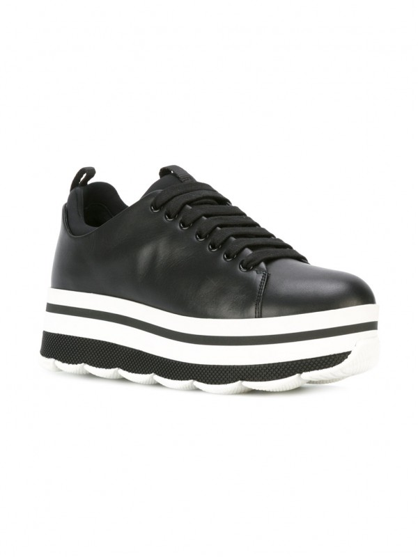 prada lace-up platform sneakers