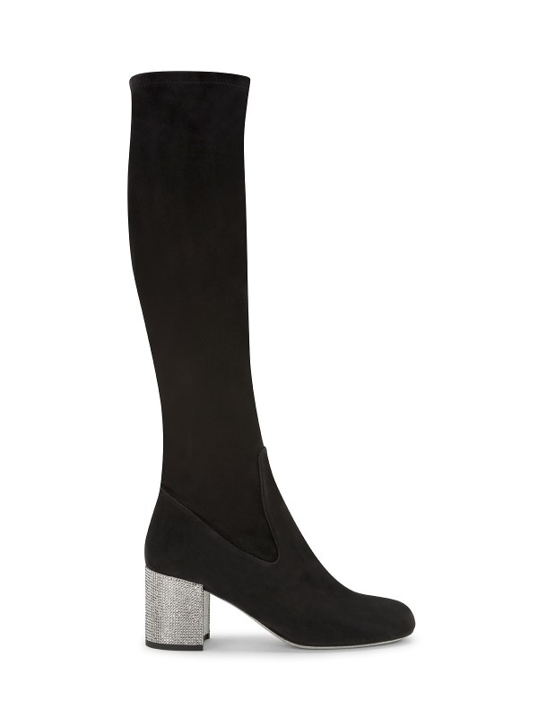 Rene Cavalli SUEDE BOOT WITH RHINESTONES