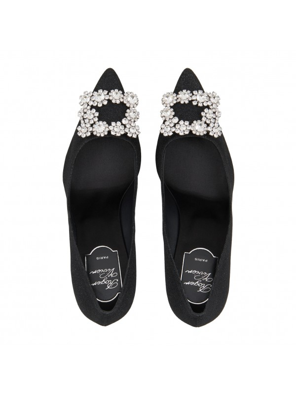 VIVIER Silk Flower Strass Pumps